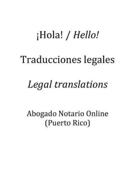 Traducciones Legales por Abogado Notario Online