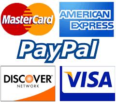Aceptamos Tarjetas de Crédito y PayPal